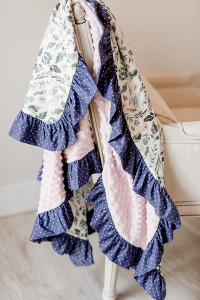 Newberry Port Ruffle Blanket - Extra Large