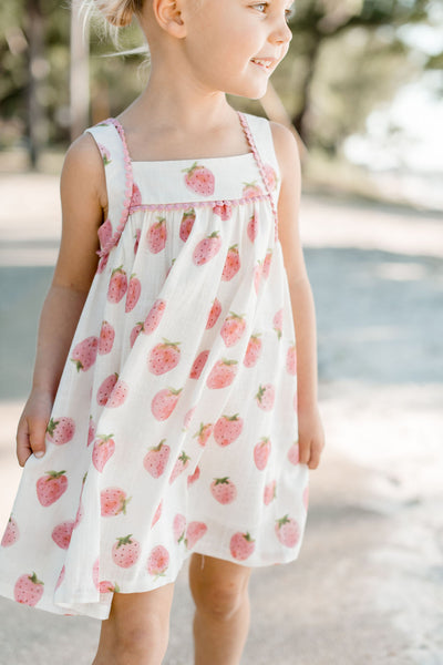Rosslyn Dress - Strawberry Shortcake