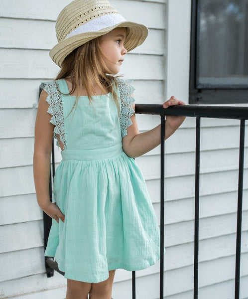 Ada Gauze Dress - Fresh Mint (Running small)