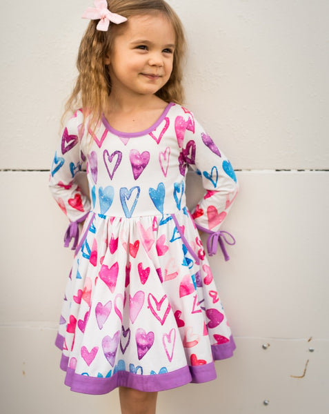 Penelope Knit Dress - Ombre Heart