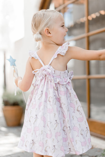 Reese Gauze Dress - Narwhal