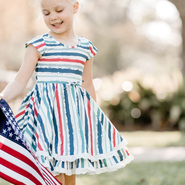 Myra Knit Dress - Stars & Stripes