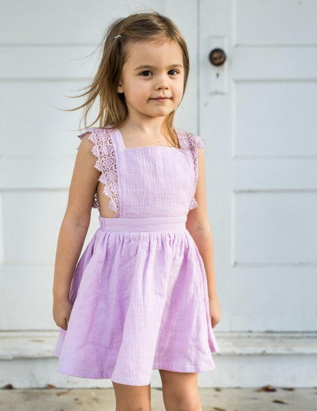 Ada Gauze Dress - French Lilac (Running small)