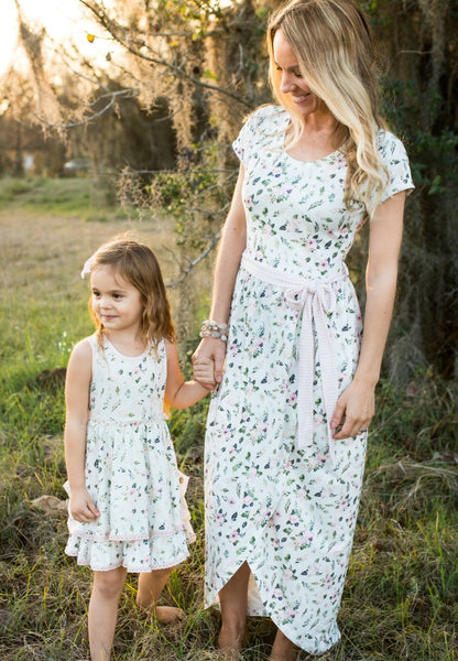 Womens Petal Dress - Morning Sprig (Pre-Sale)