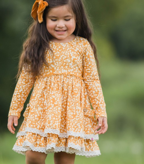 Myra Knit Dress - Mustard Seed
