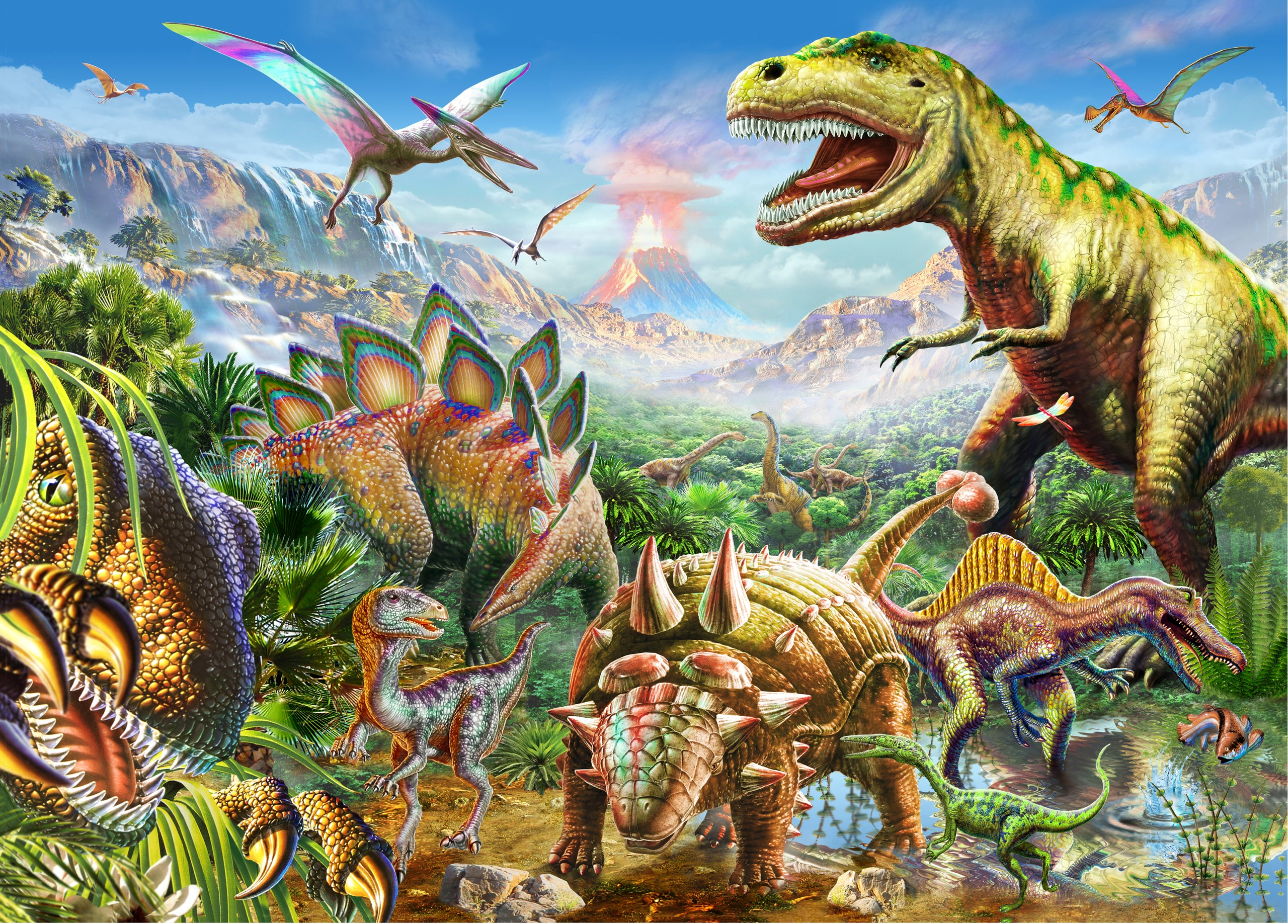 Puzzle - Dinosaur World 1000pc
