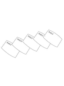 Carbon PM2.5 Mask Filters - 5 pack