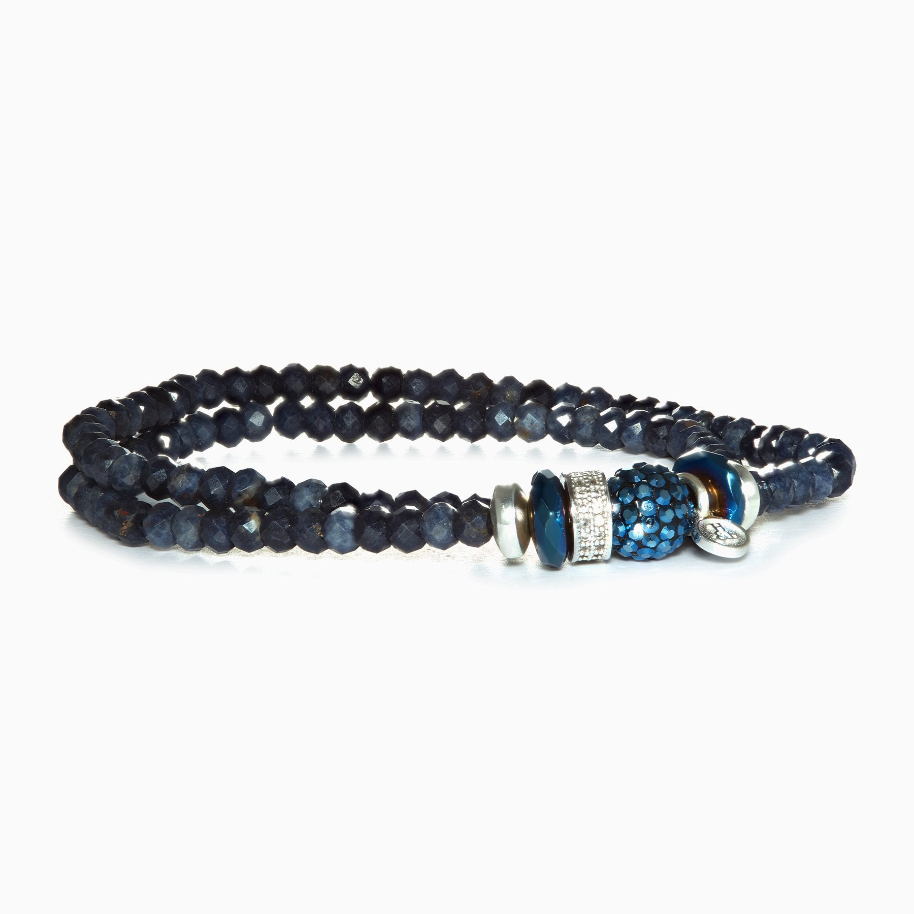 H&B Bracelet - Sparkle Ball™ Double Wrap Midnight