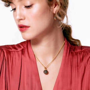 H&B Necklace - Pyrite Sparkle Ball™ Long