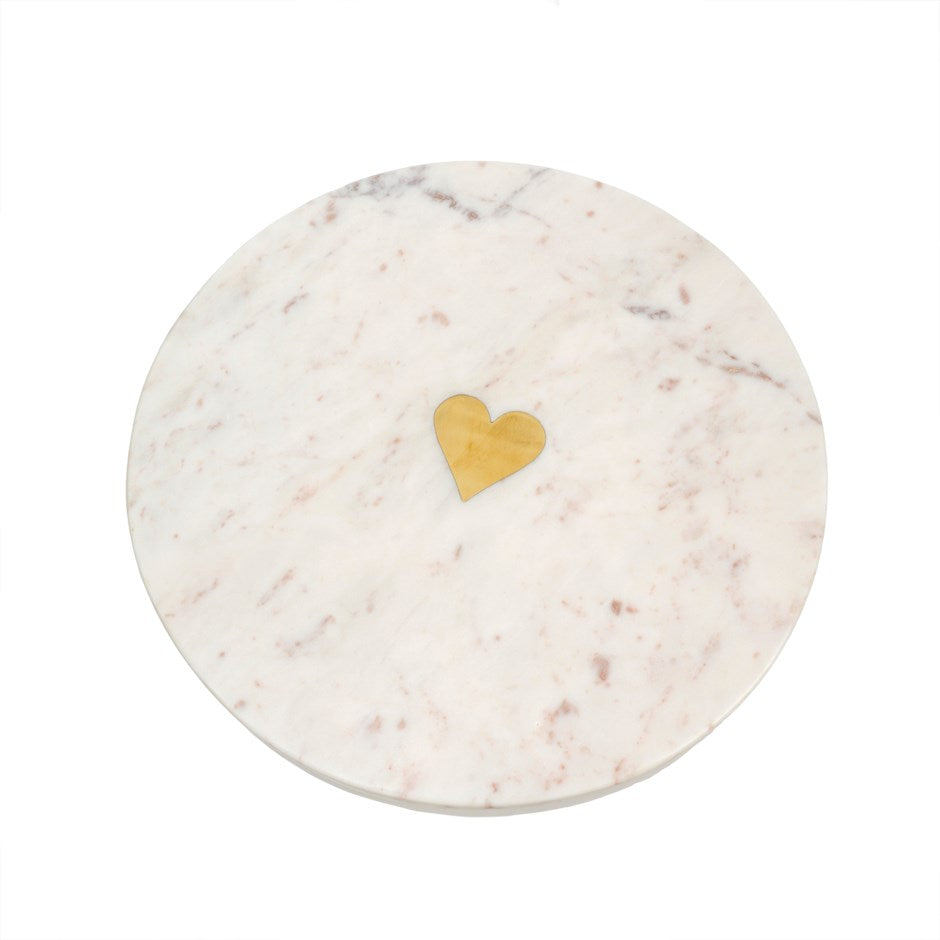Serving Tray - Marble Heart
