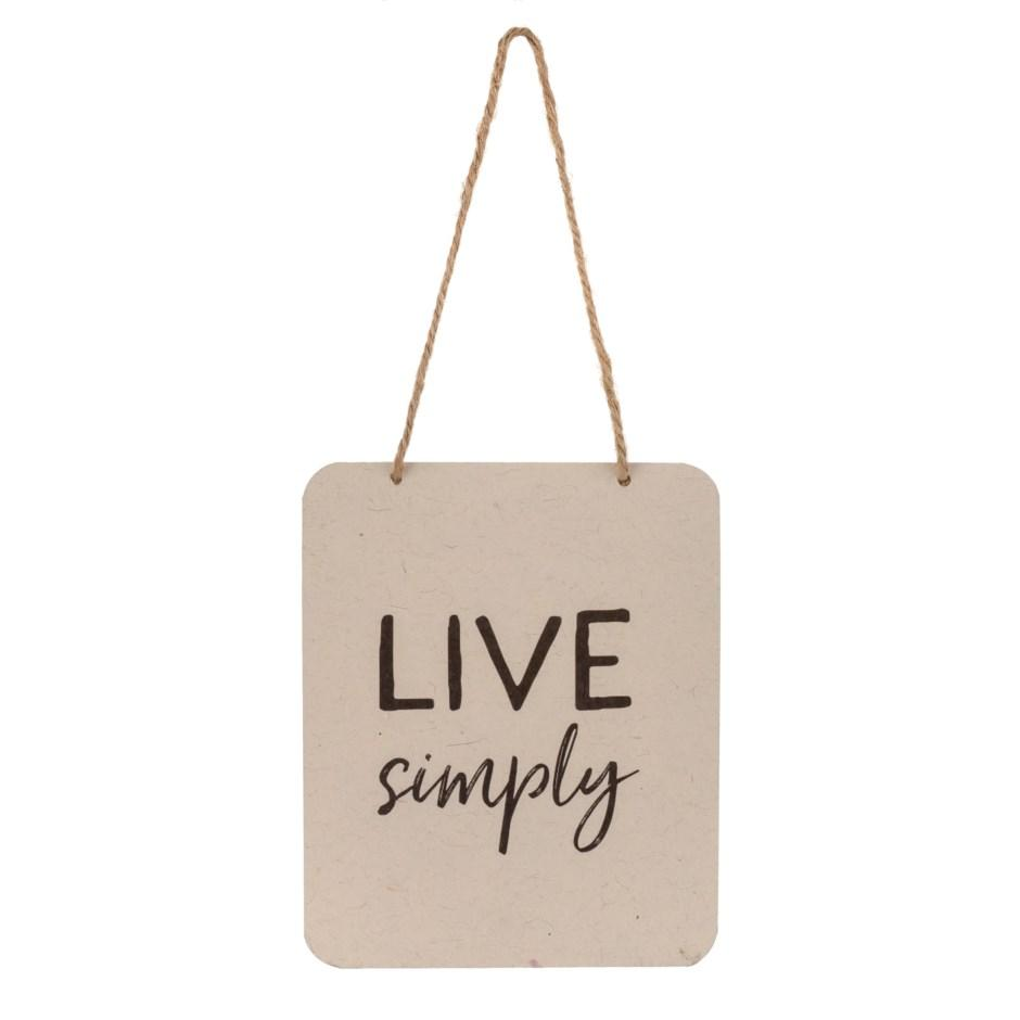 Sign - Live Simply