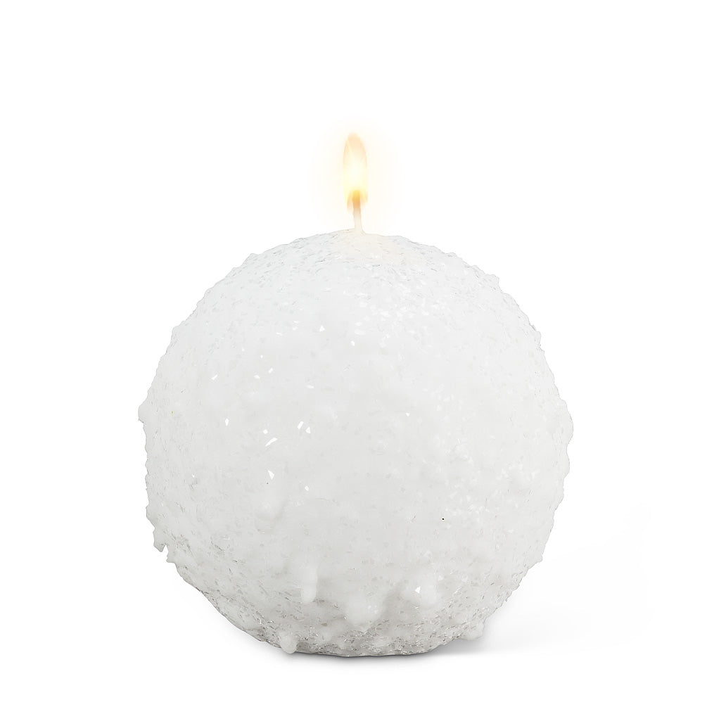 Snowball Candle - White