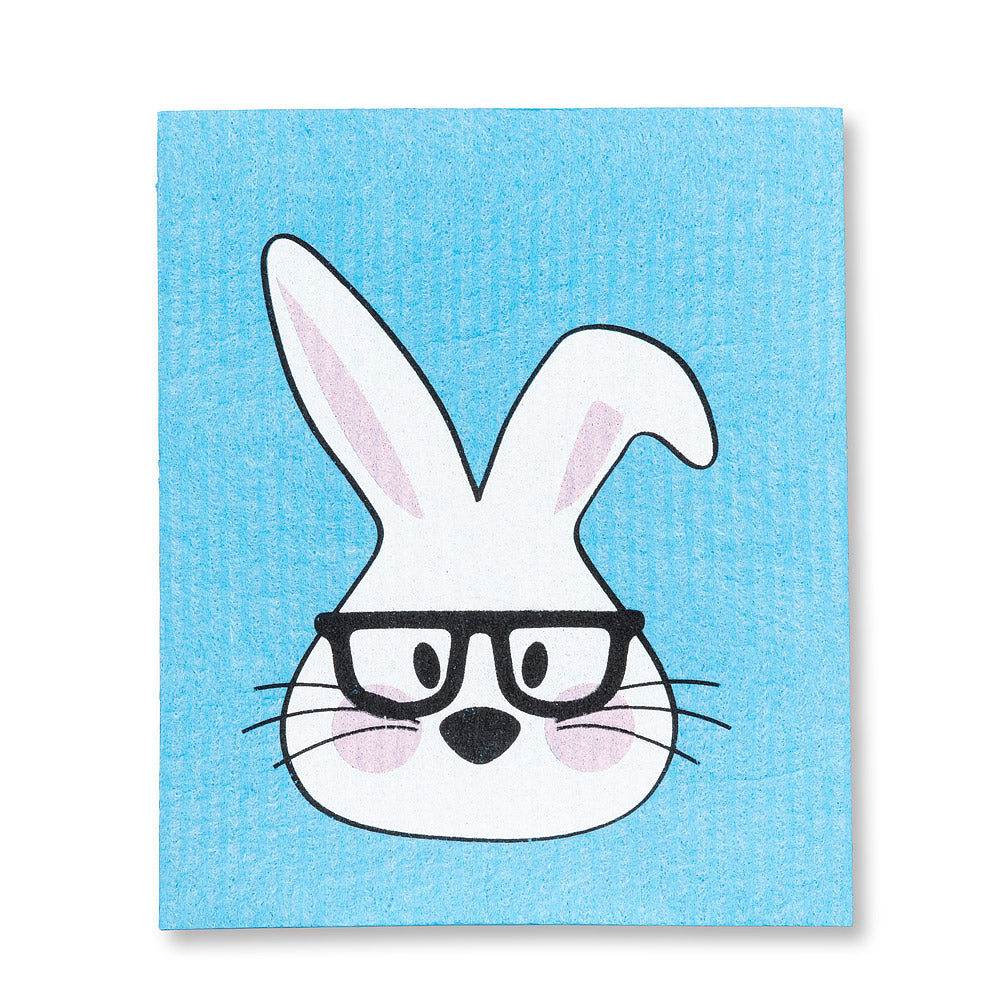 Swedish Cloth - Blue Bunny in Glasses