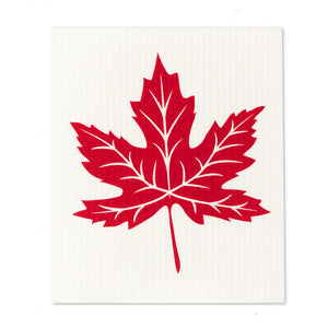 Swedish Cloth - Red Maple Leaf