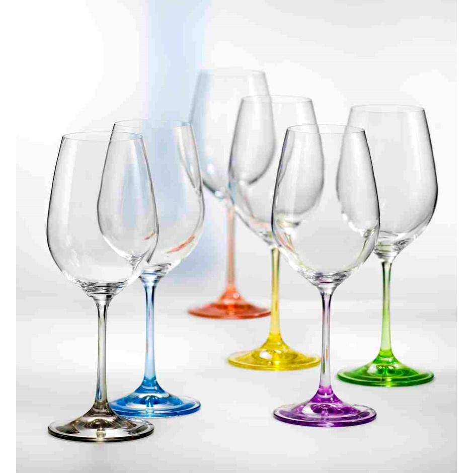 Rainbow Wine Glasses s/6