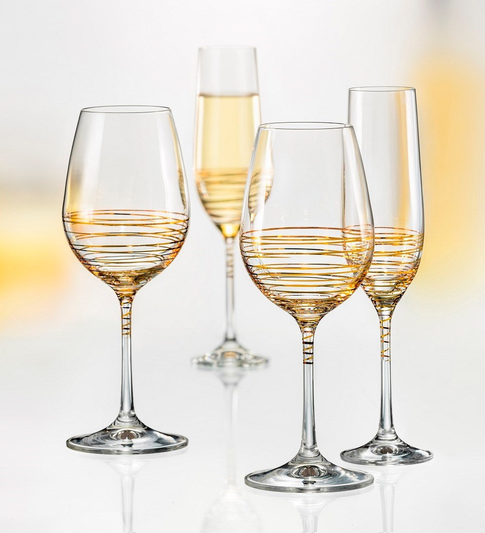 Champagne Flute - Spiral s/2