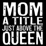 Load image into Gallery viewer, Wood Coaster - Mom Queen Black