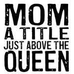 Load image into Gallery viewer, Wood Coaster - Mom Queen White