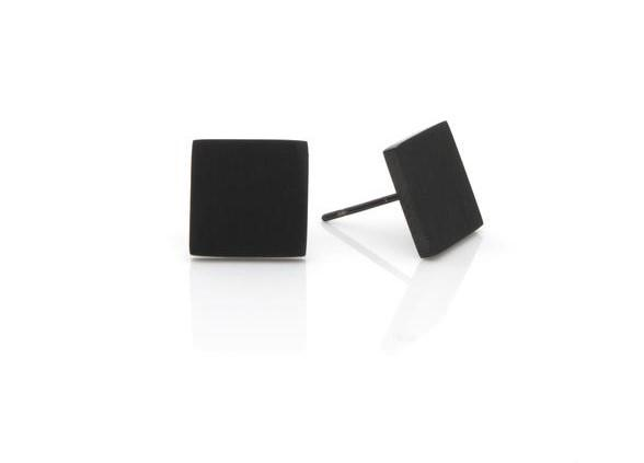 E&E Earrings - Black Series Squared