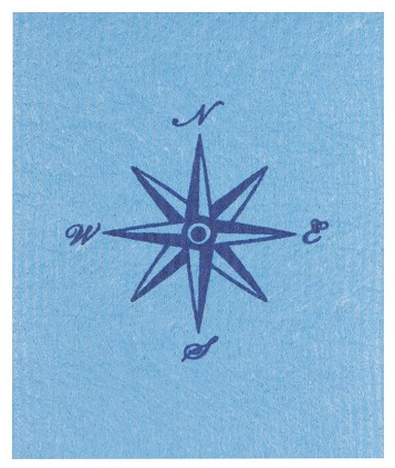 Swedish Cloth - Blue Compass