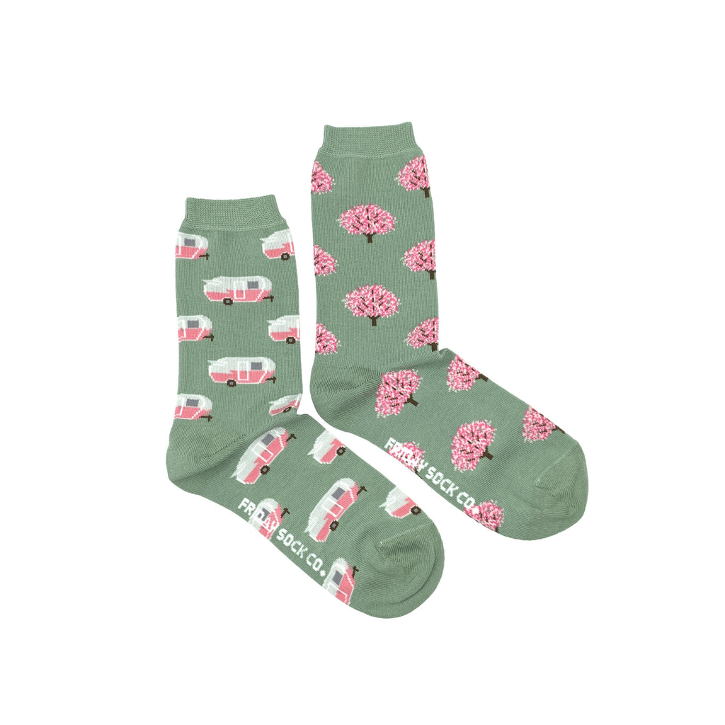 Women's Crew Socks - RV & Tree