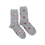 Load image into Gallery viewer, Women's Crew Socks - Red Wine & Grapes