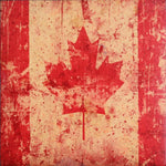 Load image into Gallery viewer, Wood Coaster - Canada Flag