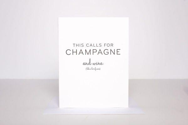 W&C Cards - Champagne & Wine