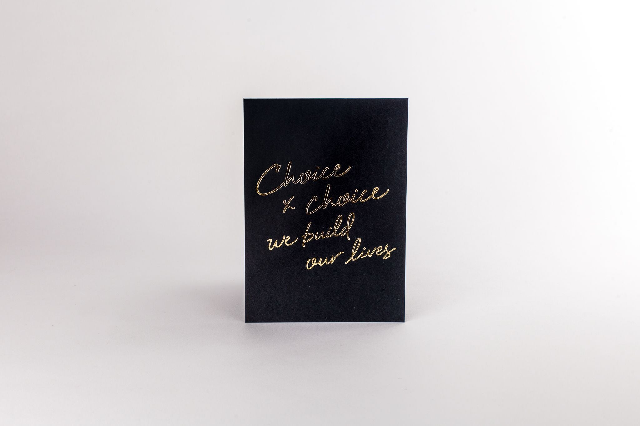 Art Print - Choice x Choice 5x7 Black