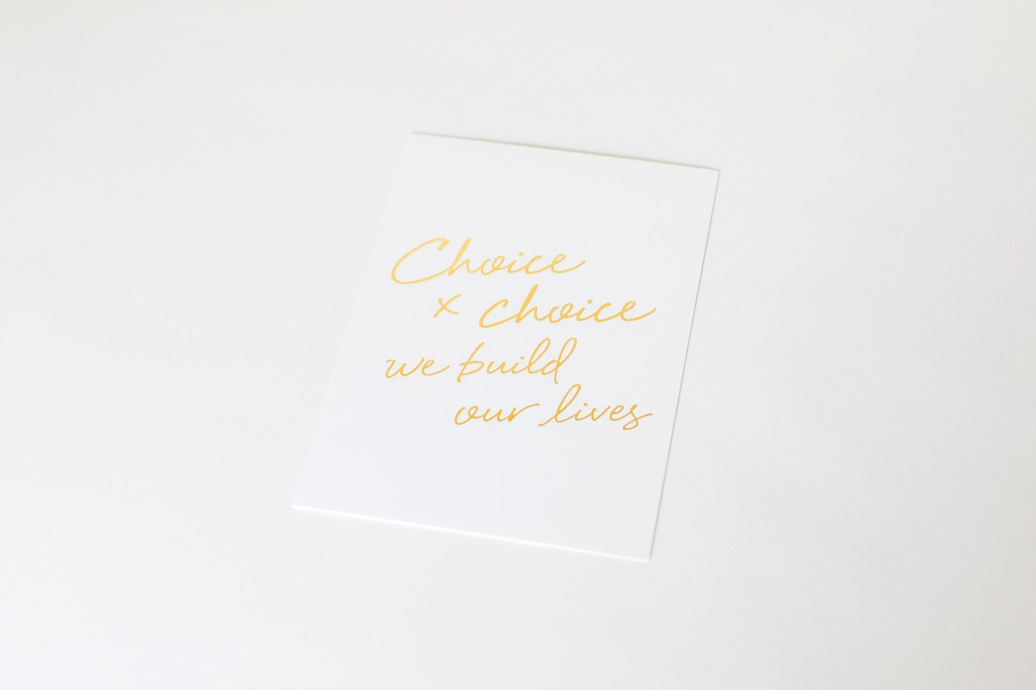 Art Print - Choice x Choice 5x7
