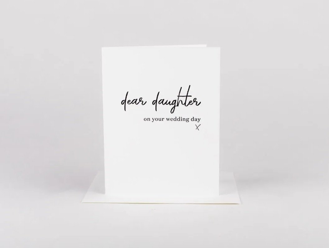 W&C Cards - Dear Daughter, Wedding Day