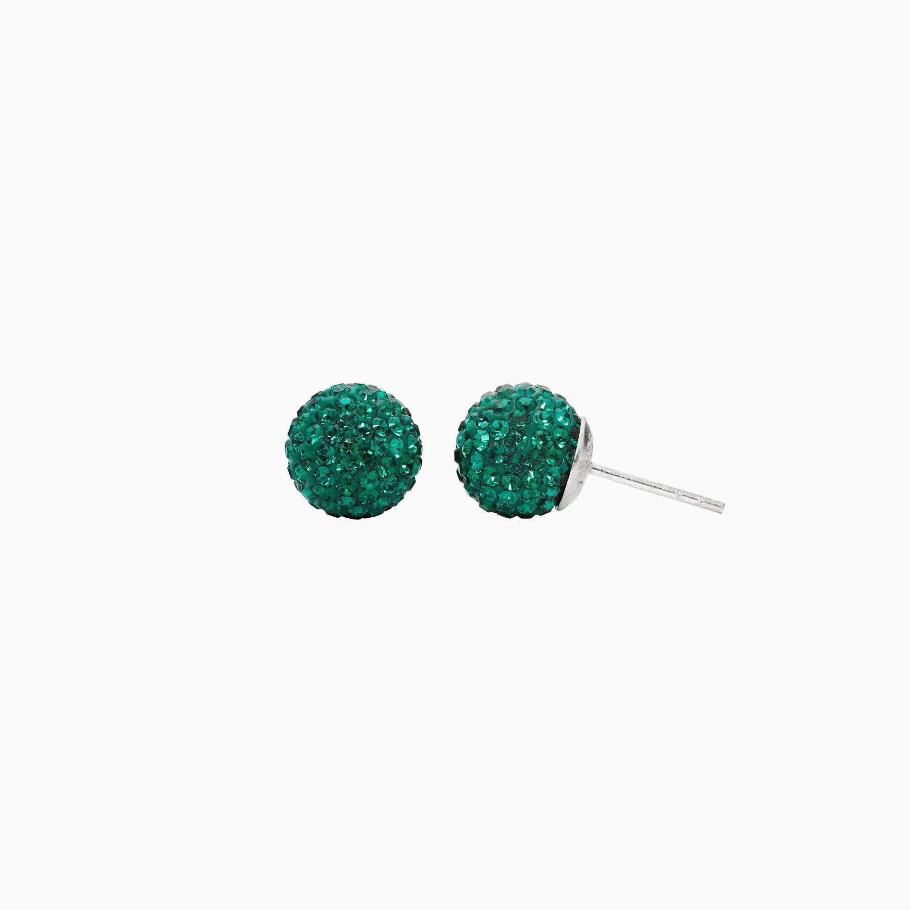 H&B Sparkle Ball™ Stud Earrings - 10mm Emerald