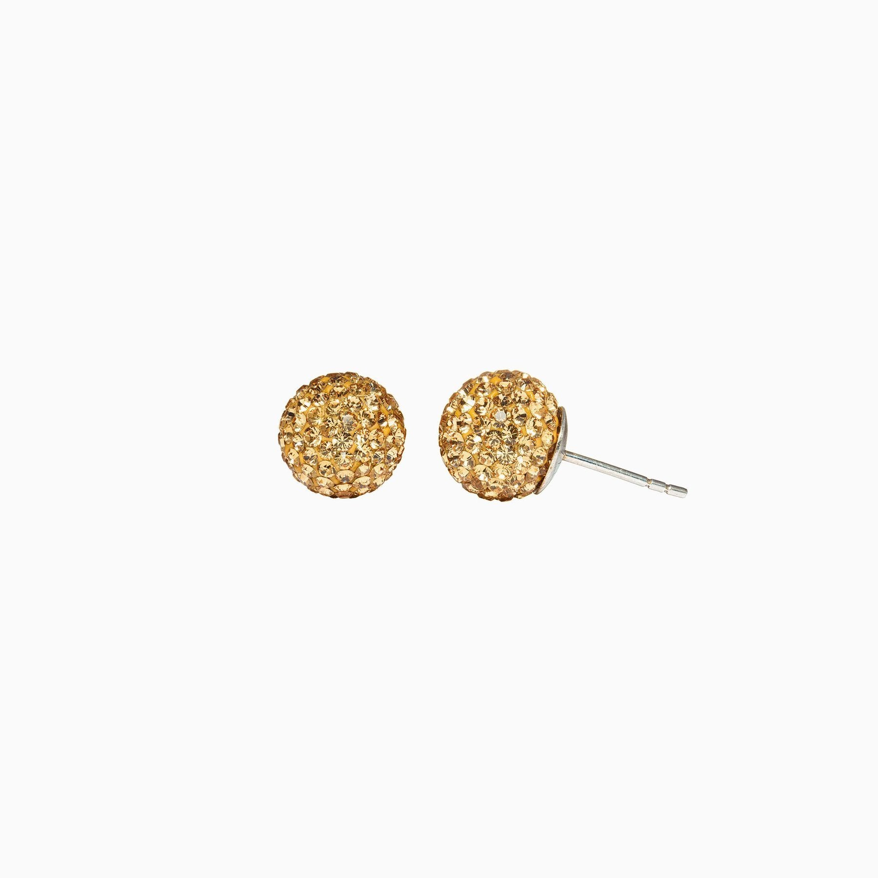 H&B Sparkle Ball™ Stud Earrings - 10mm Gold