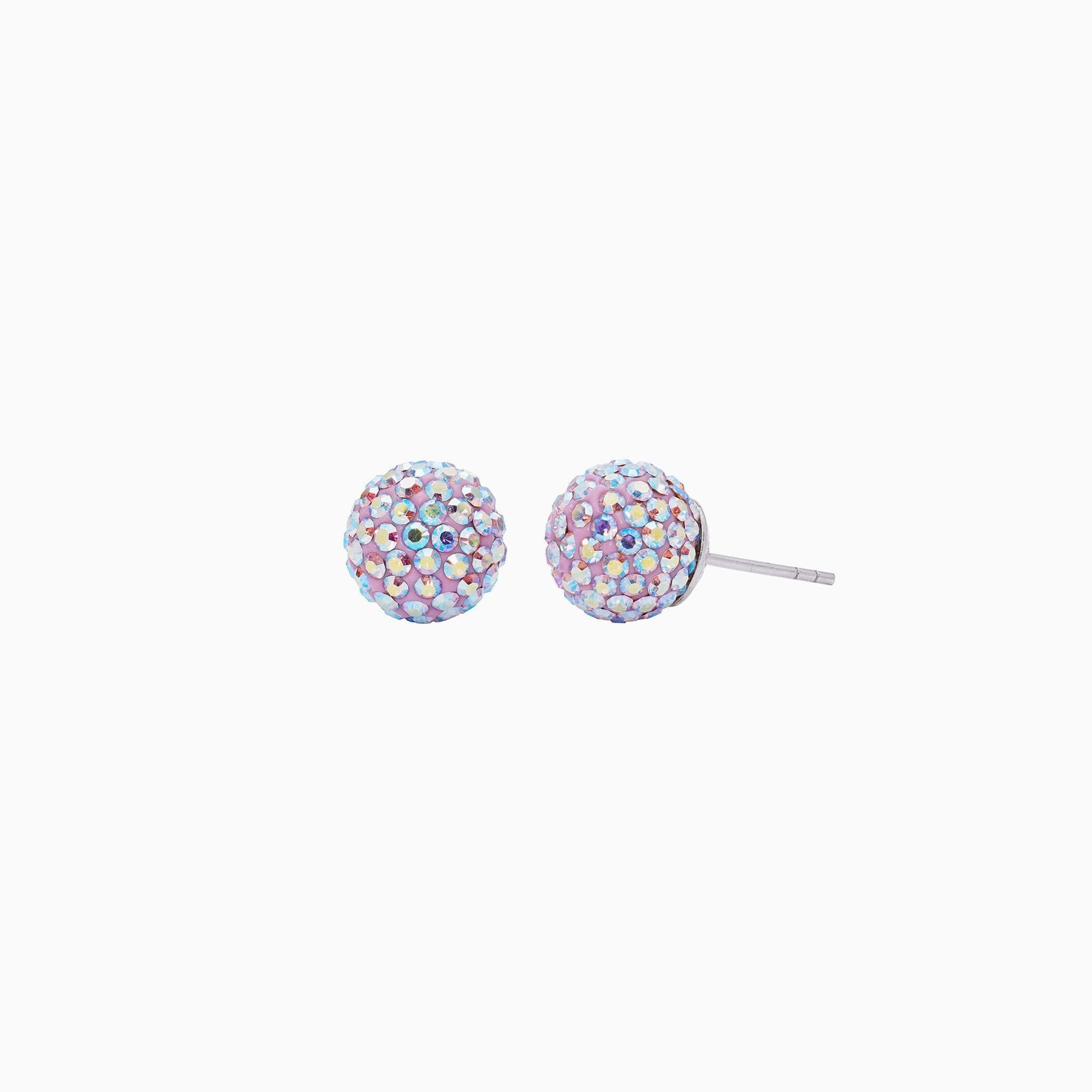 H&B Sparkle Ball™ Stud Earrings - 10mm Lilac