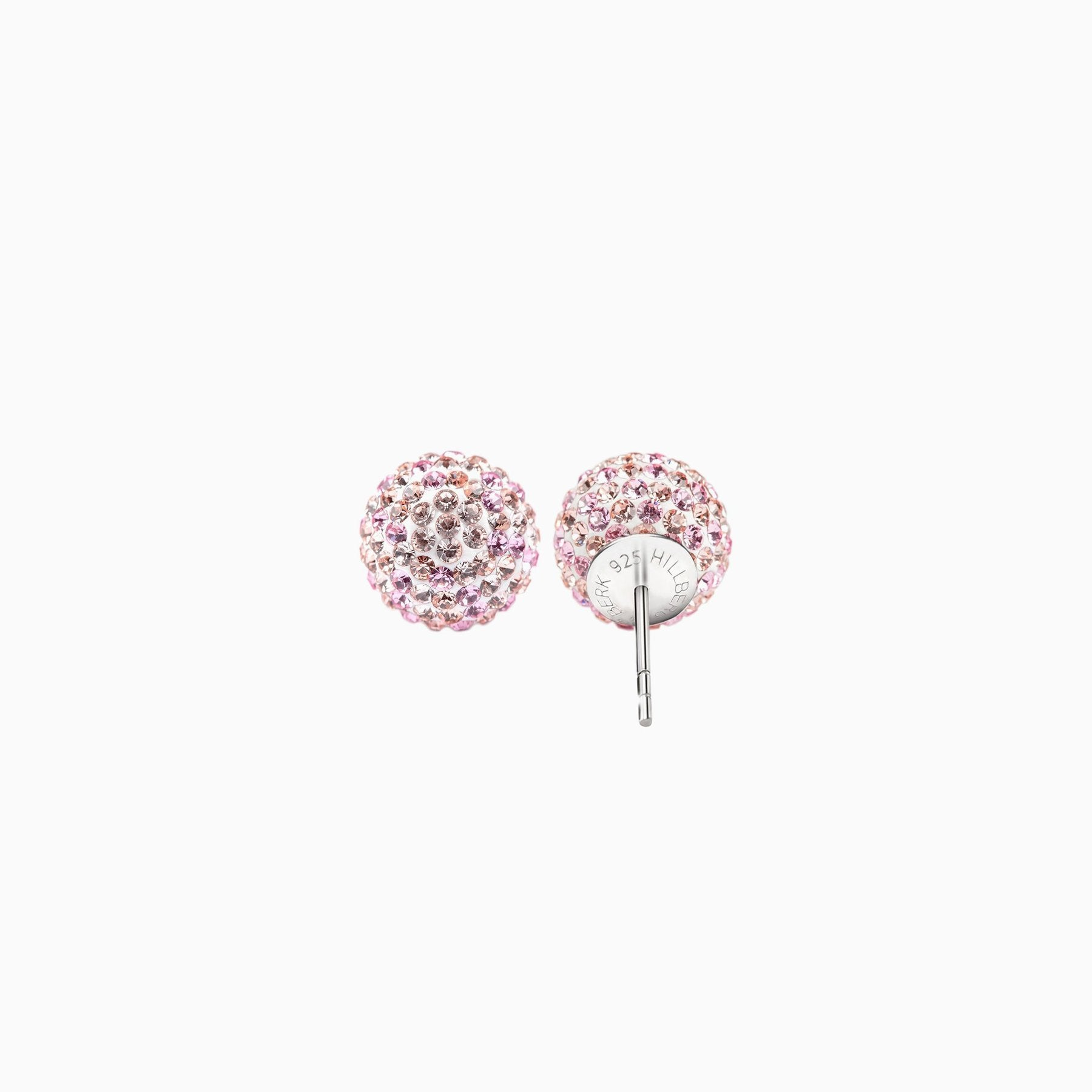 H&B Sparkle Ball™ Stud Earrings - 12mm Pink Champagne