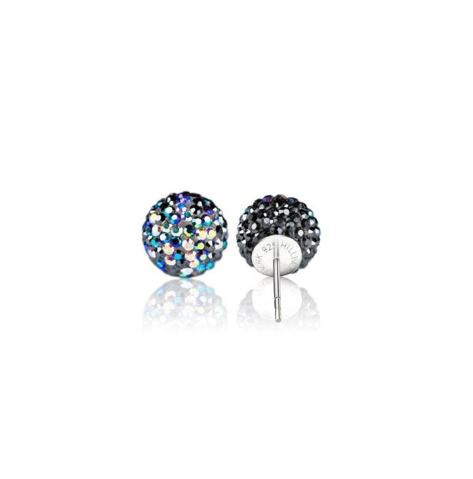 H&B Sparkle Ball™ Stud Earrings - 12mm Starry Night