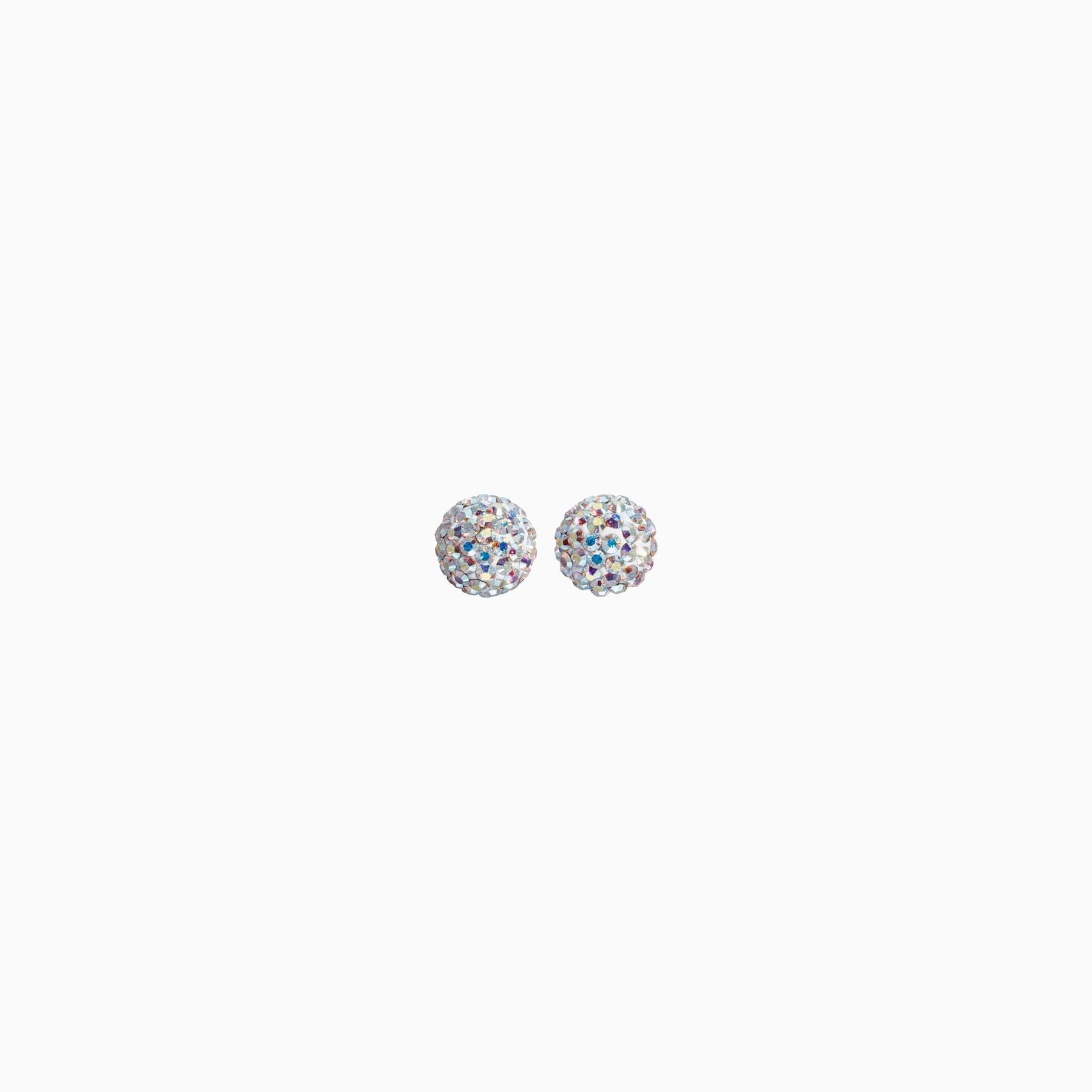 H&B Sparkle Ball™ Stud Earrings - 6mm Aurora Borealis