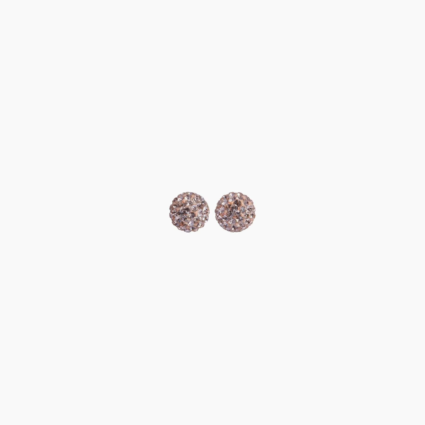 H&B Sparkle Ball™ Stud Earrings - 6mm Rose Gold