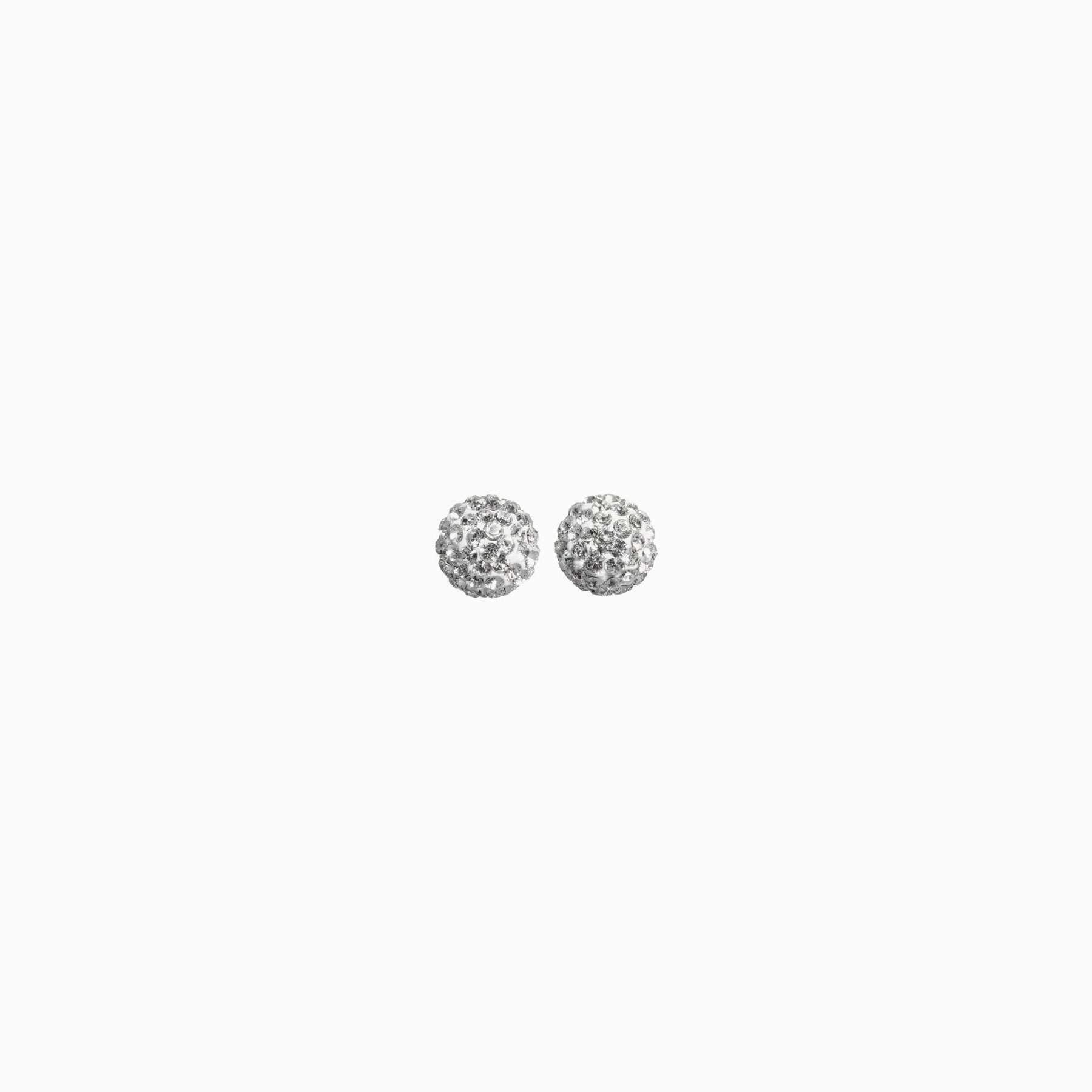 H&B Sparkle Ball™ Stud Earrings - 6mm White