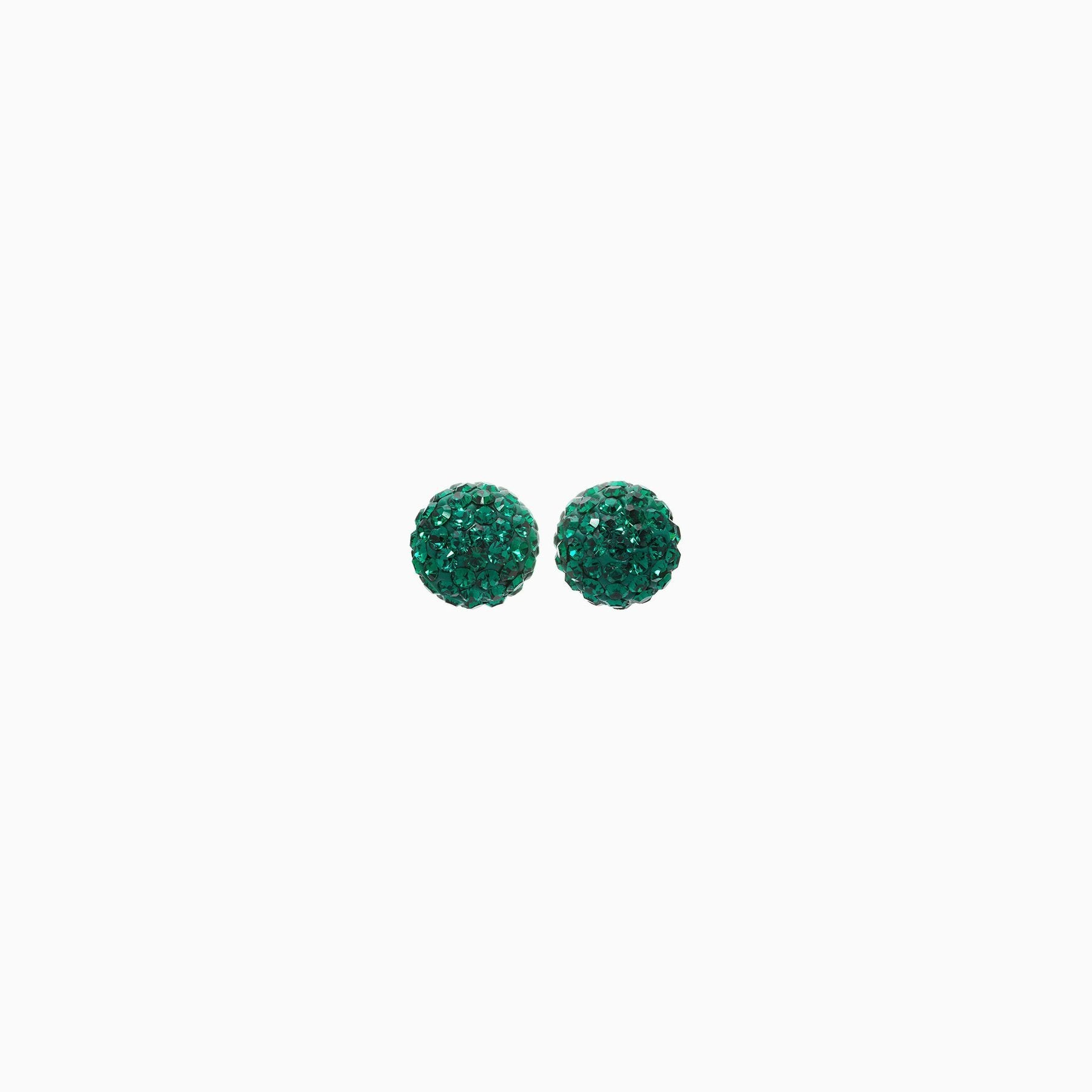 H&B Sparkle Ball™ Stud Earrings - 8mm Emerald