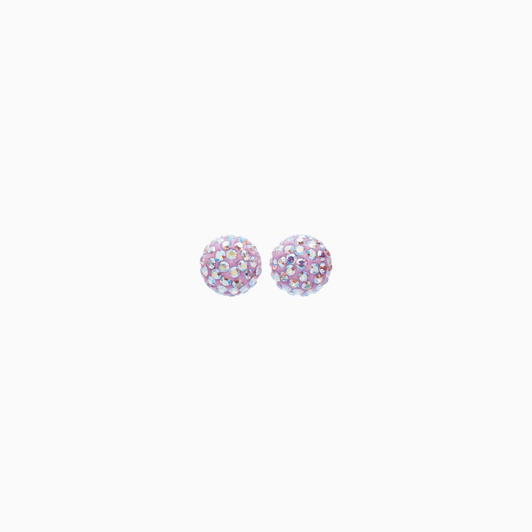 H&B Sparkle Ball™ Stud Earrings - 8mm Lilac