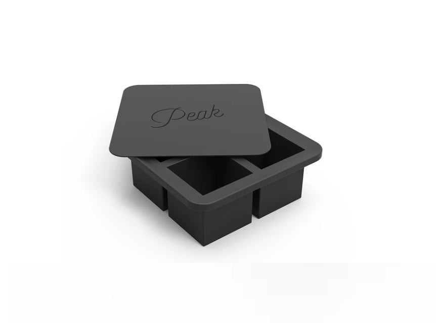 W&P Design Ice Tray - Square Cube Charcoal