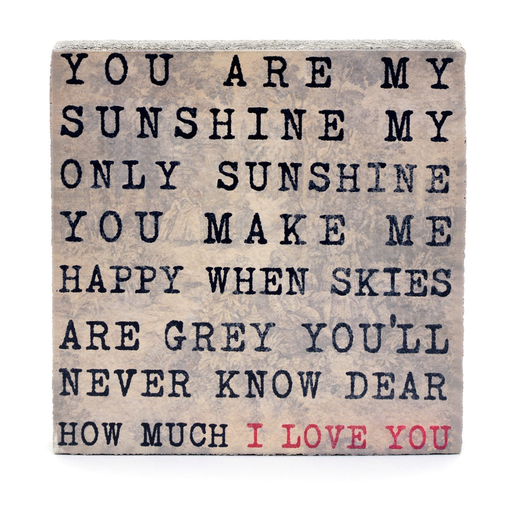 Wall Tile - You are my Sunshine
