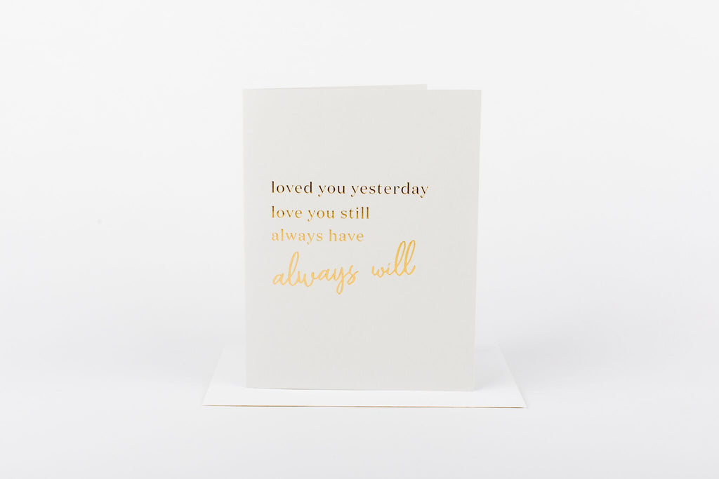 W&C Cards - Loved You Yesterday