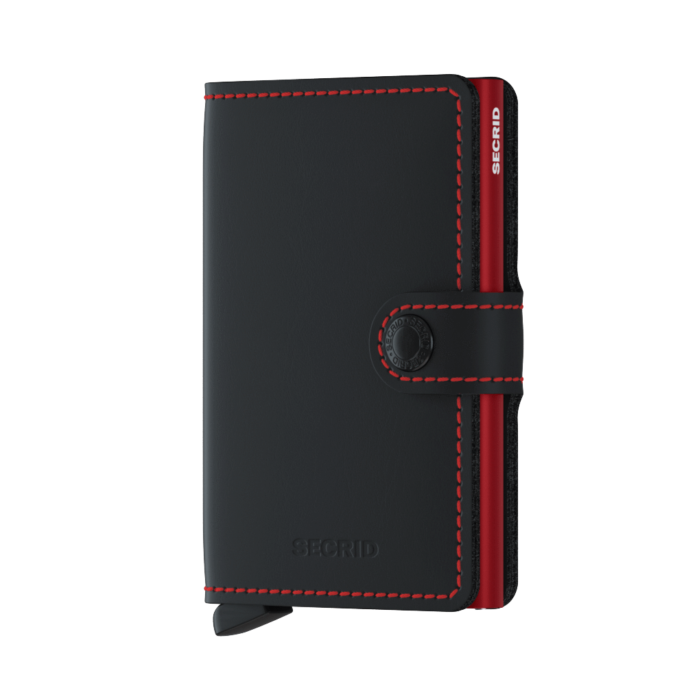 Miniwallet - Matte Black Red