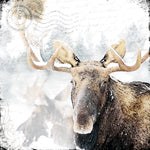Load image into Gallery viewer, Marble Coaster - Snowy Moose