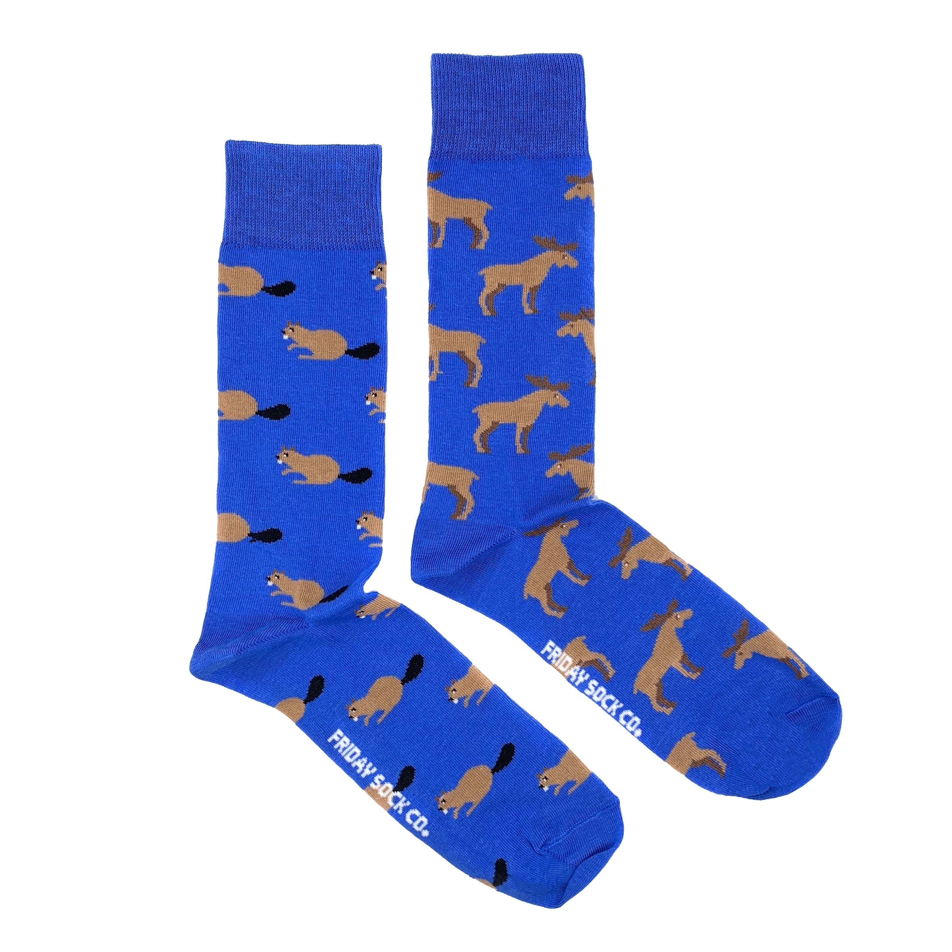 Men's Midcalf Socks - Moose Beaver