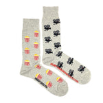 Load image into Gallery viewer, Men's Midcalf Socks - Movies Popcorn