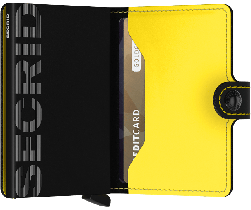 Miniwallet - Matte Black Yellow