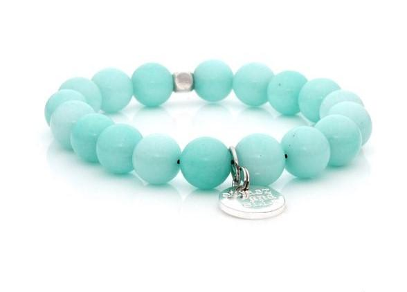 E&E Bracelet - Mint Riverstone 10mm